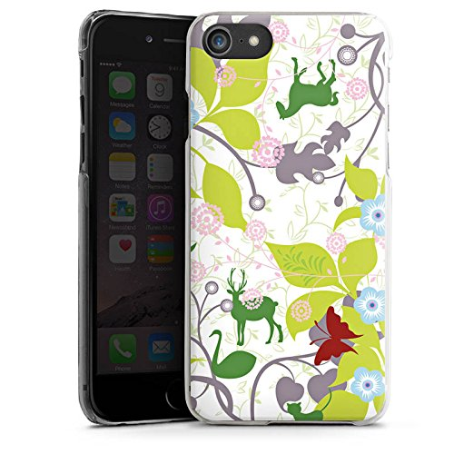 Apple iPhone X Silikon Hülle Case Schutzhülle Floral Muster Blätter Hard Case transparent