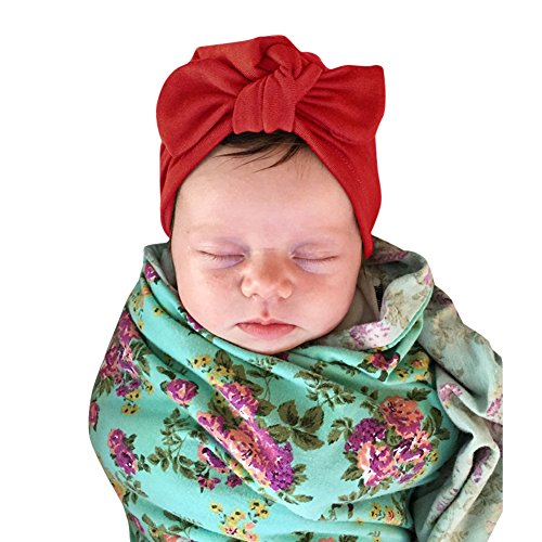 De feuilles Baby Mütze Neugeborene Turban Baby Mädchen Knoten Stirnband Turban Kleinkind Warm Weich Unisex Baby Jungen Mädchen Kopfdeckung Süße Schleife Jersey Slouch Hut Stirnband