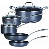 Gibson Oster Cadwell - Batería de cocina (8 piezas), color negro