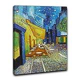 Niik Quadro + Telaio (BC) Vincent Van Gogh 60 x 45 x 1,7 cm Terrazza del caffè la Sera Place du Forum Arles Falso d' autore Stampa su Tela