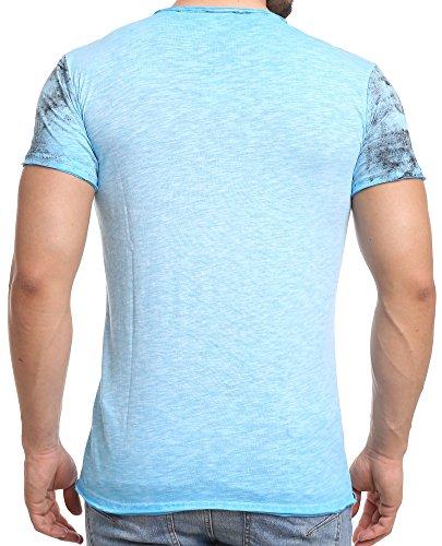 Redbridge Red Bridge Herren T-Shirt Pilot Vintage Leicht Slim Fit Baumwolle Blue
