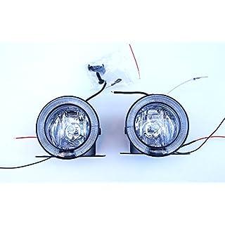 Universal 12V Rund Klar Angel Eye LED DRL Nebel Spot Day Lights 75mm NEU