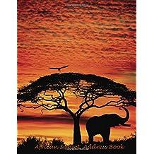 African Sunset Address Book: Large Print
