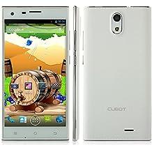 """Cubot S308 - Smartphone libre (pantalla de 5"""", Android 4.2, 3G, 1.3GHz, Quad Core 2GB,16GB, doble cámaras), Blanco"""