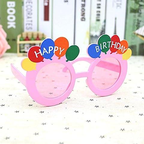Z&YQ Brille Birthday Party Brille Neuheit glitter Gläser , pink