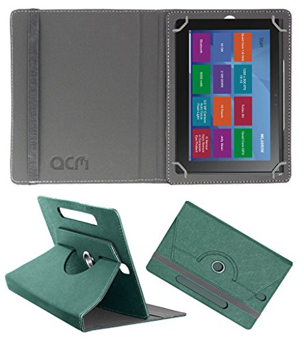 Acm Designer Rotating Leather Flip Case for Milagrow M8 Pro Cover Stand Turquoise  available at amazon for Rs.219
