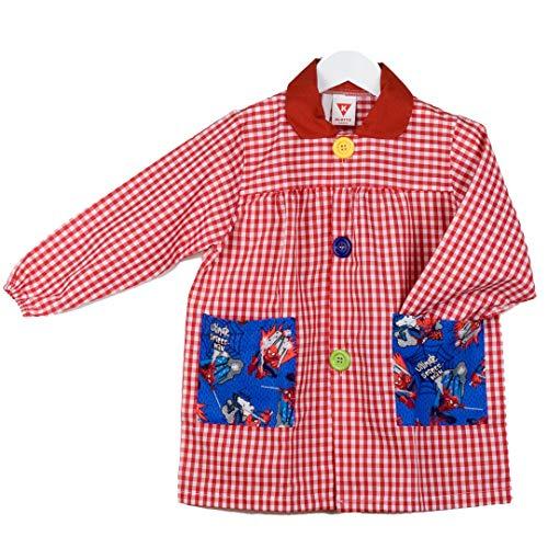 Klottz grembiule scolastico spiderman bambine e ragazze rosso