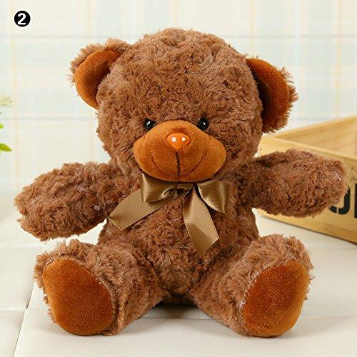 calistouk Cute Bear Plüsch Plüschtier Puppe girlfried Kinder Geburtstag Weihnachten Geschenk Color02# (Puppen Paddington)