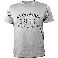 Mister Merchandise T-Shirt Vintage 1971 Aged To Perfection Jahre Geburtstag Years - Uomo Maglietta S-XXL - Molti Colori