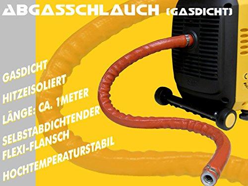 Gasdichter - geräuschminderner - Hochtemperatur - Abgasführungsschlauch für portable Stromerzeuger/ Generatoren , 1 Meter, für alle gängigen Modelle wie Kipor, FME, etc, Caravaning, Camping, Wohnmobil, Boot, Baustelle, Event, Festival