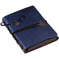 In pelle, Album Fotografici autoadesivi DIY Album con Memo Album portafoto per regalo di natale vintage small, blu