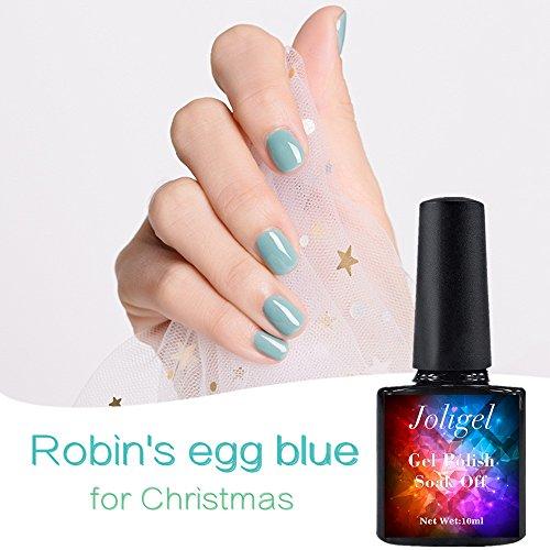 k Semi-Permanent 10ml für UV-LED-Soak Off Gesundes Harz ohne Geruch, Robin 's Egg Blue Tender mint türkis, Best Christmas Geschenk für Maniküre Pediküre Liebhaber ()