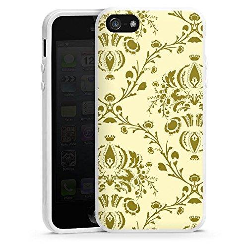 Apple iPhone 4 Housse Étui Silicone Coque Protection Ornements Motif Motif Housse en silicone blanc