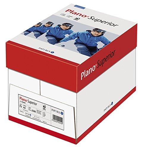 Papyrus 88039666 Drucker-/Kopierpapier PlanoSuperior, 70 g/qm, DIN-A4, 2500 Blätter/5 Ries = 1 Karton, weiß, holzfrei, matt
