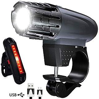 AOMEES Bike Light Set, LED Bike Lights USB Rechargeable