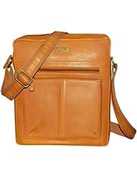 Kan 100% Genuine Leather Crossbody Sling Bag||Messenger Bag||Handbag||Hard Disk Bag||Neck Pouch||Shoulder Bag... - B071CGMLVD