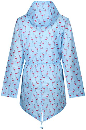 Raindrops by Finesse Damen Regenjacke Flamingo Print