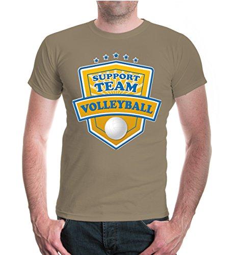 buXsbaum® T-Shirt Volleyball-Support Team Khaki-z-direct