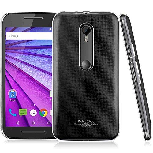 Heartly Imak Crystal Clear Hot Transparent Flip Thin Hard Bumper Best Back Case Cover For Motorola Moto G G3 3rd Generation