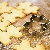 Zonster 10Pcs Durable Puzzle Form Edelstahl Ausstecher Home KüChe Backen-Form-PläTzchen-Biskuit-Fondant-Scherblock-Form