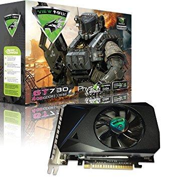 ViewMax GeForce GT 730 Grafikkarte (4 GB, GDDR3 128 Bit, PCI Express (PCIe), DVI, HDMI und HDCP, Support - Produktcode: American Warrior Edition - Gddr3 Pcie Grafikkarte