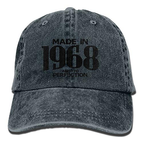 Miedhki Aged to Perfection 1968 Hipster Unisex Cotton Denim Dad Hat Adjustable Plain Deckel Polo Style Low Profile Gift for Men Women New19 -