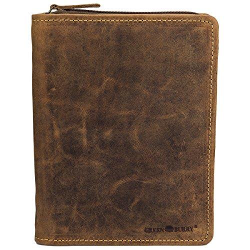 Greenburry Vintage 1633-25 A5 RV- Schreibmappe/Businessmappe/Konferenzmappe, Einheitsgröße, Antik Braun