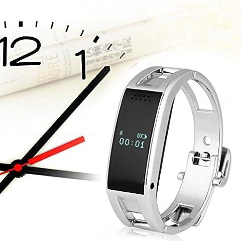 Excelvan Bluetooth Smartwatch/r Sync llame SMS música tiempo recordatorio anti-perdida deportes socio para iPhone 6 + 5 c S 5 Samsung Galaxy S5 Nota 3 HTC One LG G3