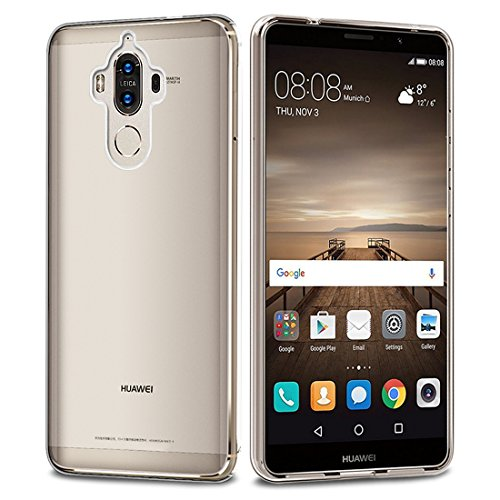 Huawei Mate 9 Bumper Case , Ubegood Ultra-Thin [Drop Protection] Shock Resistant Soft Gel Protective Cover TPU Bumper Case for Mate 9 Case cover (Transparent)
