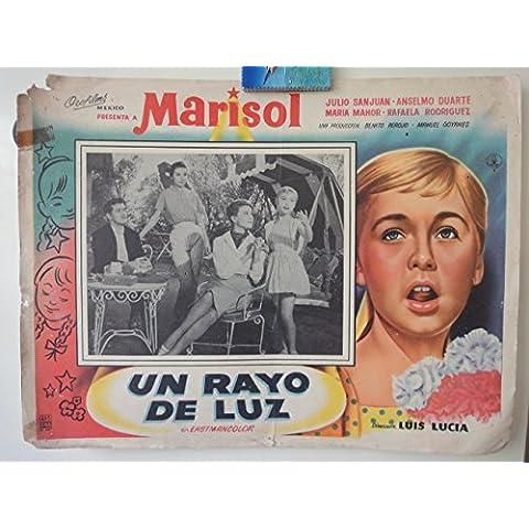 Original Mexican Lobby Card Un Rayo De Luz Marisol Julio San Juán Maria Mahor Luis Lucia