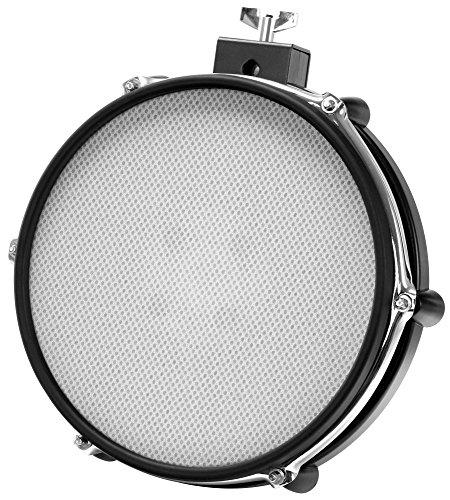 "XDrum MP-10 Mesh Pad 10"" (E-Drum, Mesh Head, Gewebe-Fell, Dual Zone, Rim Shot Funktion, natürliches Spielgefühl, Roland kompatibel, inkl. Halter)"