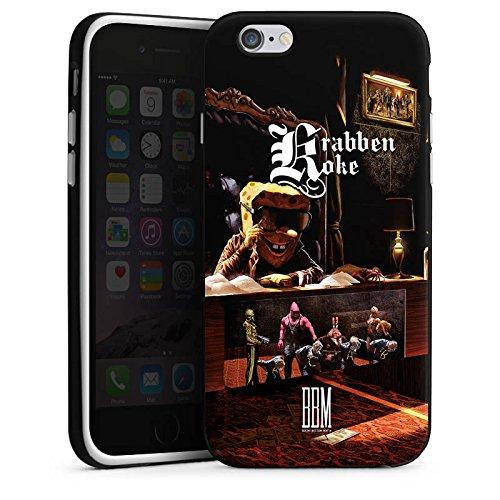 Apple iPhone 6s Hülle Case Handyhülle Spongebozz Krabbenkoke Fanartikel Merchandise Silikon Case schwarz / weiß
