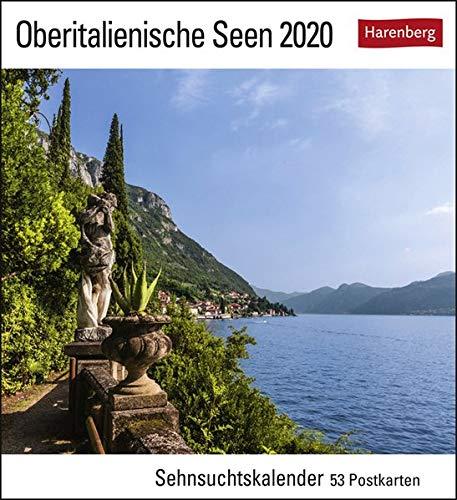 Oberitalienische Seen Kalender 2020: Sehnsuchtskalender, 53 Postkarten