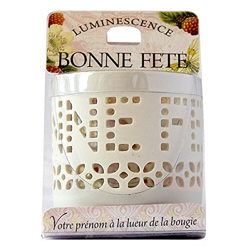 La Carterie 76009015 BONNE FET Photophore à bougie chauffe-plat Porcelaine Blanc 11,1 x 7 x 7 cm