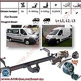 7â Pin Trailer Kupplung mit Schwanenhals | Peugot Boxer/Fiat Ducato/Citroen Jumper 2006-| Abnehmbare mit Werkzeug