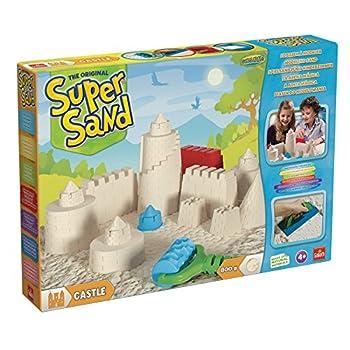 Goliath 83219 - Super-sand-set Castle, Modellierbarer Magischer Sand Bringt Burgen Ins Kinderzimmer, Handliche Sandkasten-box, Bunte Burg-förmchen, Ab 4 Jahren 0
