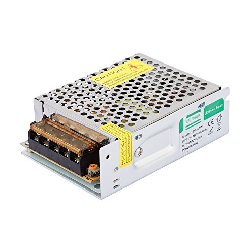 Liqoo® 60W 5A LED Trafo Transformador del Conductor Eléctrico Fuente de Alimentación Driver para LED Tira Banda DC 12V