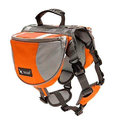 GDDYQ Hundesatteltasche, mittelgroßer und großer Outdoor-Rucksack mit atmungsaktivem Hundehalter,Orange,M