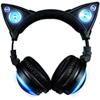 Oregon Scientific AXENT Cat Ear Wear 317857 – Headphones, Wireless Bluetooth Speaker With 8 Interchangeable Colour Choice