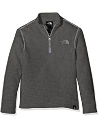 The North Face Y Glacier 1/4 Zip (Recycled) Sudadera, Niños, Gris (Medium Grey Heather ), M