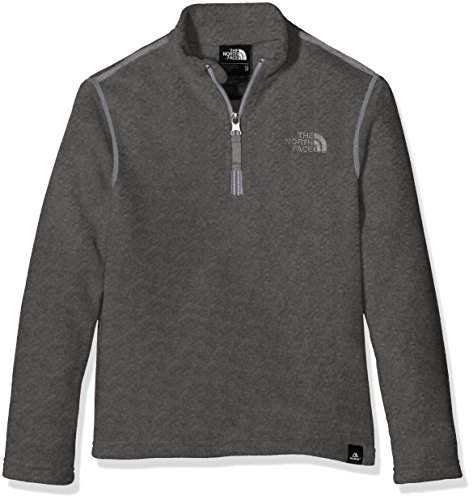north-face-youth-glacier-1-4-zip-recycled-fleece-sweater-grey-tnfmediumgryhtr-small