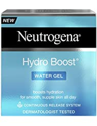 Neutrogena Hydro Boost Water Gel Moisturiser, Boosts Hydration, Face Moisturiser Formulated with Hyaluronic Acid, 50 ml