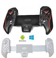 VR3 RED Rojo Conjunto De Chips parte Controller Gamepad Bluetooth para Smartphone y Tablet PC, para Samsung Galaxy S7 Edge S6 S5 S4 6 5 4 Tab iPad Mini 4 iPhone 7 6S Huawei MediaPad X2 o también VR de juegos con Gear VR Gafas de realidad virtual Google Android IOS Windows 10 Cardboard auricular