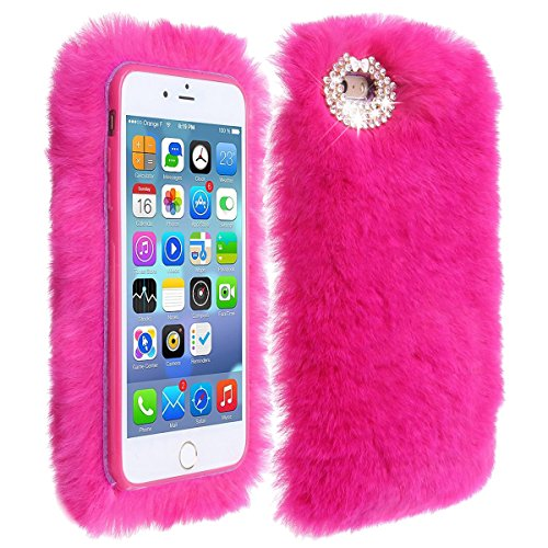 Vandot iPhone 5 5S SE Coque Etui iPhone 5 5S SE Housse Case Cover pour iPhone 5 5S SE TPU Souple Silicone Hull avec Bling Crystal Oreilles Shell Pleine Effacer Clair transparent Portefeuille + Fashion lapin cheveux-red