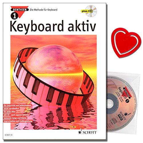 Keyboard aktiv Band 1 - Die Methode für Keyboard mit CD und bunter herzförmiger Notenklammer - Keyboardschule von Axel Benthien - für Anfänger jeder Altersstufe und ohne musikalische Vorkenntnisse