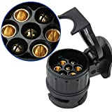ZREAL Adapter Trailer Elektrische 13auf 7-Pin Stecker Konverter Wasserdicht Buchse für Caravan Anhängerkupplung