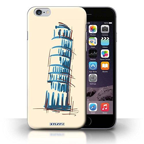 Kobalt® Imprimé Etui / Coque pour iPhone 6+/Plus 5.5 / Statue de la Liberté conception / Série Monuments La Tour penchée de Pise