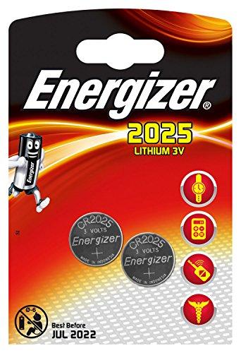 Piles bouton au lithium Energizer 2025, pack de 2
