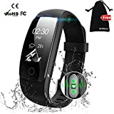 Fitness Tracker Watch,MUXI Activity Tracker With Heart Rate Monitor ,IP67 Waterproof Calorie Counter Watch,Full Touch Screen Smart Bracelet Sleep Tracker, Bluetooth Smart Watch,Connected Running GPS,Sports Pedometer Watch with Call/SMS Remind for Android and iOS