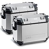 GIVI OBK37APACK2 Paar Fälle Lateral Trekkeroutback Aluminium, 37 Liter